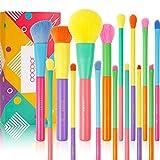 Docolor Makeup Brushes, 15 piezas, juego de brochas de maquillaje de colores, brocha sintética de primera calidad para base, crema, mezcla líquida, polvo facial, rubor, sombra de ojos, juego de brocha