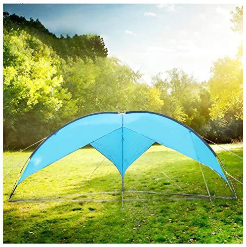 HNHN Pop Up Gazebo, Event Shelter Gazebo with PU Waterproof Coating, 11mm Fiberglass Poles Construction, Portable Sun Shelter with Sun Protection for Garden Backyard Camping,blue