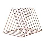ATATMOUNT Metall Eisen Lagerung LP Plattenregal Dreieck Form Buch Magzine Halter Multifunktions...