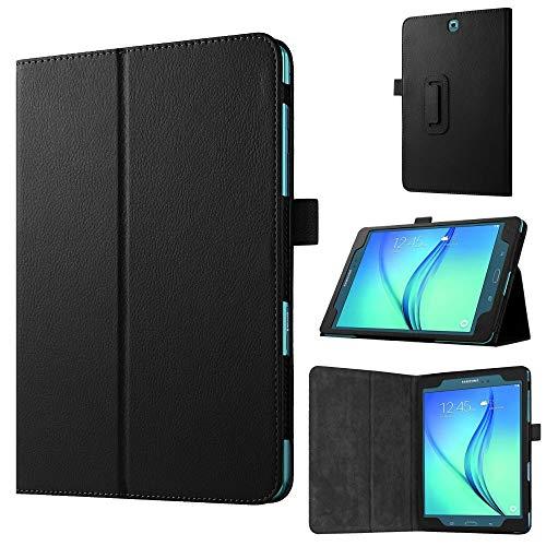 jbTec Tablet-Hülle Schutz-Hülle passend für Samsung Galaxy Tab A 9.7 - Flip-Hülle Tablet-Tasche Cover Bag Pouch Etui, Farbe:Schwarz
