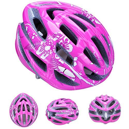 Stella Fella Cascos para hombre de una sola pieza para patinaje sobre ruedas Casco de montar en bicicleta, patinaje sobre patines para hombres y mujeres (color: rosa)