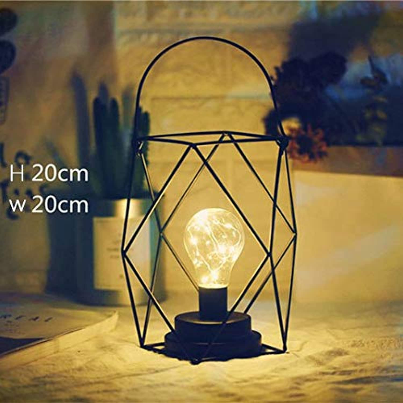LIULINUIJ WeihnachtenHohlen Diamant Led Nachtlicht Loft Tischlampe Für Bar Cafe Schlafzimmer Hochzeit Decor