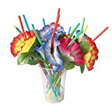 SM SunniMix 20pcs Assorted Colorato Fiore Cocktail Party Paglia Hawaii Partito Decorazioni...