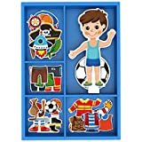 Toysters Magnetic Wooden Dress-Up Boy Doll Toy...