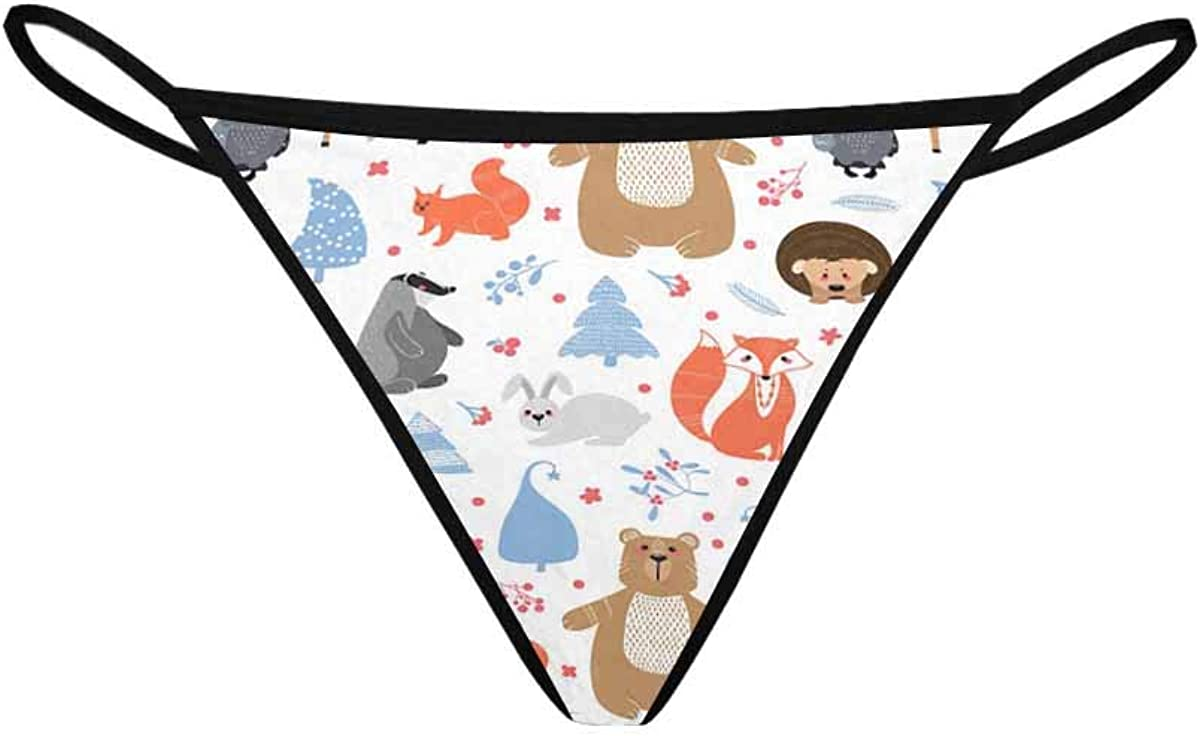 InterestPrint Women's Thongs Breathable Cash special price S Underwear Fox Panties Reservation