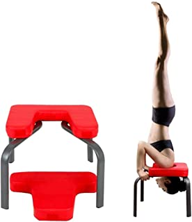 KJRJDL Yoga Exercise Chair Headstand Inversion Bench Headstand Fitness Build Up Body Kit Red Home Gym Office 42 * 43 * 30cm
