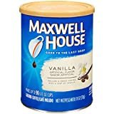 Maxwell House Vanilla Medium Roast Ground Coffee (11 oz Canisters, Pack of 3)