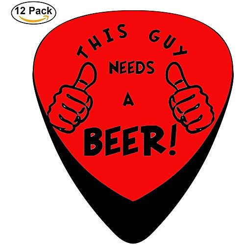 Deze kerel heeft een bier Celluloid Gitaar Picks Unieke ontwerpen Muziek Geschenken