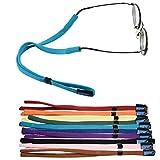 Bluecell 10pcs Assorted Color Elastic Adjustable Eyeglasses Holder Strap Cord Sunglasses Eyewear Retainer Glasses Cord Lanyard (Solid Color(10pcs))