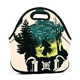 Bolsa de almuerzo portátil Bento Pouch Caustic Apex Legends Fanart Cool Lunchbox Bag Paquete de cremallera multifuncional para bolsa de oficina de trabajo escolar