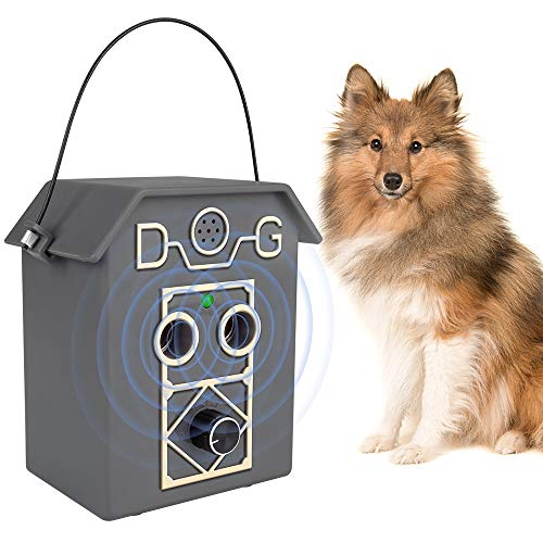 Ultrasuoni per Cani, Dispositivo anti abbaiamento di aggiornamento per abbaiare cani con Livelli di Ultrasuoni Regolabili, Collare Antiabbaio Sicuro e per Addestramento Umano per Cani tutte le Taglie