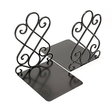 Fasmov Art Bookends,1 Pair(Black)