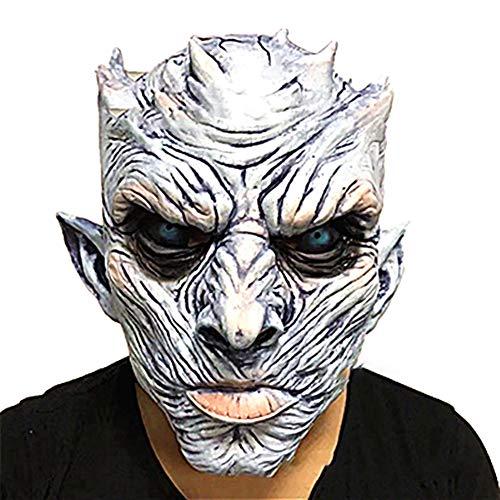 Xiton 1pc Noche de Halloween Rey Fantasma máscara Hombres Espeluznante Halloween Máscara Halloween película Fiesta Blanco Caminantes máscara Traje Cosplay