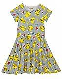 Pokemon Childrens Girls Pikachu Short Sleeved Dress, Multicolor, 7-8 Years