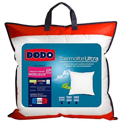 UNIVERS-DECOR Lot de 2 oreillers Maxiconfort Thermolite Ultra Dodo (Blanc, Lot de 2 oreillers Maxiconfort Dodo 50 x 70 cm)