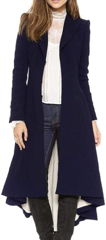 Esast Women's Parka Trench Parkas Outerwear Tuxedo Coat Jackets