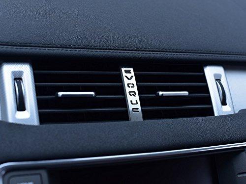 Cubierta De Acero para 2011-2018 Evoque - 1 Pieza Salidas Centrales Emblema Placa Inox Metal Cepillado Interior Decoración Personalizados Hechos a Medida Tuning