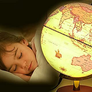 feiren 25cm Luminescentie Globe Wereld Aarde Oceaan Kaart Bal Geografie Strand Bal Kids Geografie Educatieve Benodigdheden