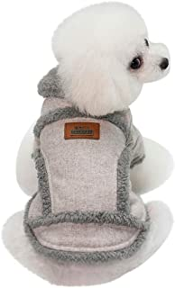 Lookvv Dog Warm Coat Suede Warm Cozy Winter Jacket Furry Pet Puppy Dog Holiday Clothes Costume Outwear Coat Apparel