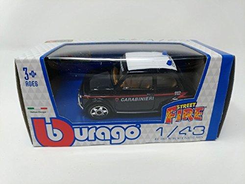 Bburago - Modellino Auto - Scala 1:43 - Street Fire - Fiat 500 Classica - Carabinieri
