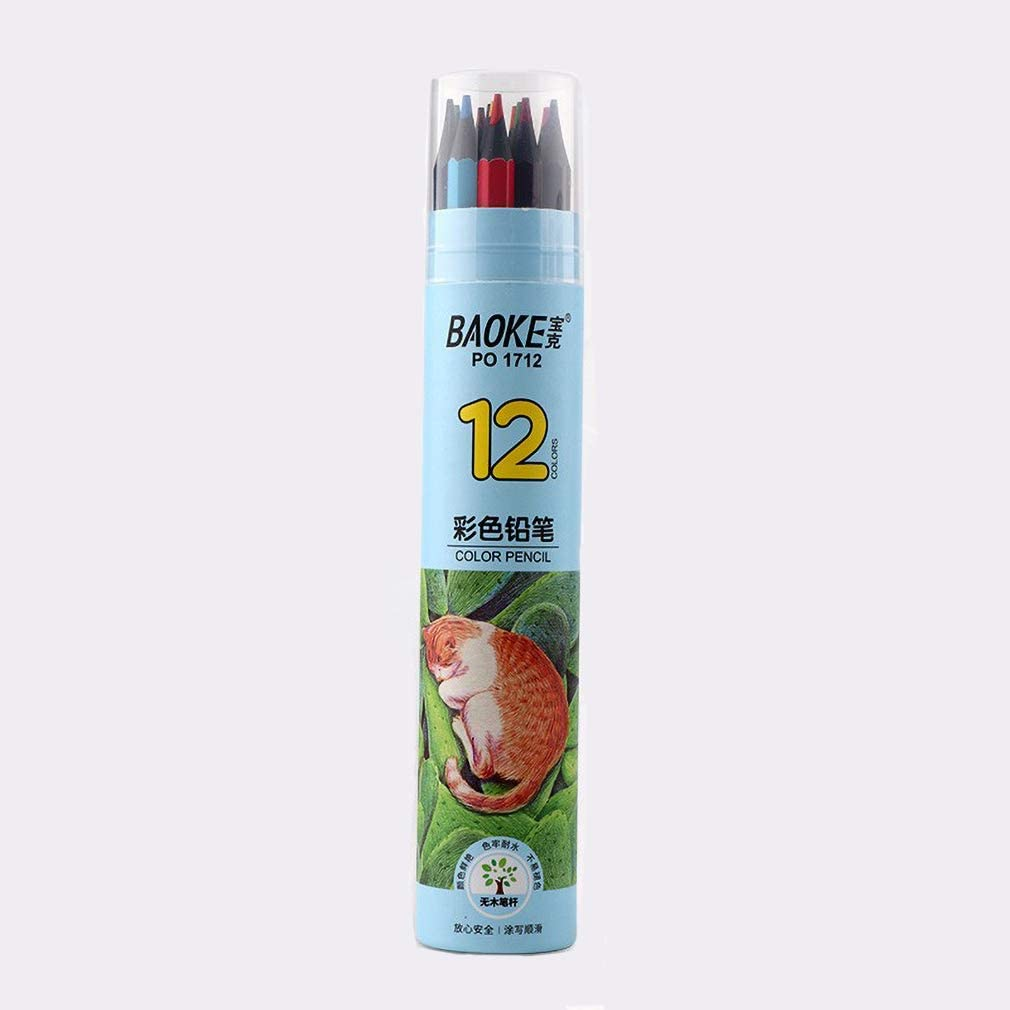 YYMIYU No Wood Colored Pencils San Antonio Mall Hexagon Pencil Rod Outlet sale feature B Drawing Cute