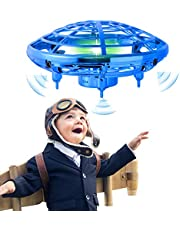 infinitoo Mini UFO Flying Ball Toys, Hand-Controlled Drone With 5 Infrared Sensors Kids Flying Toys for Boys and Girls Hand Drone Kids Self Flying Drone(Blue)