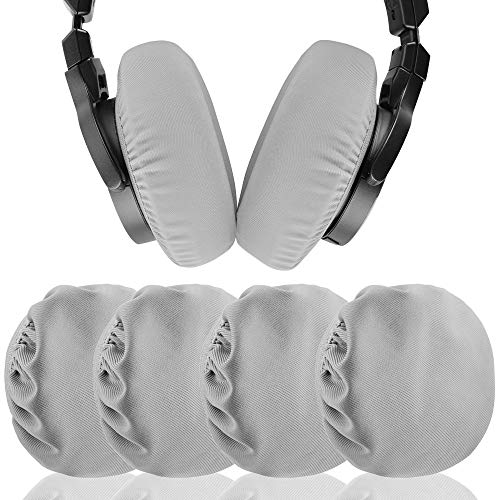 Stretchable Fabric Headphone Earpad Covers / Washable Sanitary Earcup Protectors, Fits 3.14