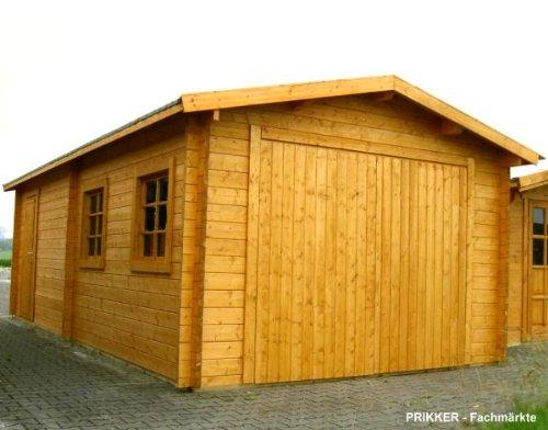 Preisvergleich Produktbild Blockhaus Garage Carport - 380 cm x 730 cm - 45 mm Blockhaus-Garage