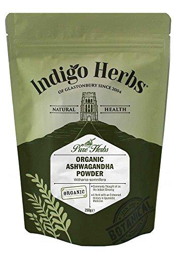 Indigo Herbs Organic Ashwagandha Powder 250g   Dried, Raw Withania somnifera   Vegan & GMO-Free