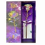 KIRIFLY Gold Rose Geschenk für Frauen Blumen Künstlich Deko Unechte Blumen Plastik für Hochzeit...