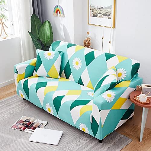 ASCV Funda de sofá elástica con Estampado de Rayas Modernas para Sala de Estar Funda Protectora elástica para Muebles A2 1 Plaza
