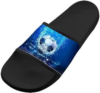 Keep Calm Play Soccer Slippers Original Antiskid Comfy Flip-flop Shoes Flat Sandals House Adult