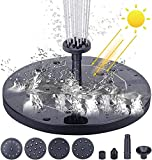 Solar Fountain Pump, Mini Floating Fountain with 6 Nozzles,Sprinkler Running Water for Bird Bath, Pond, Garden,Garden Decoration,Water Cycling,Swimming Pool,Fish Tank, No Electricity Required