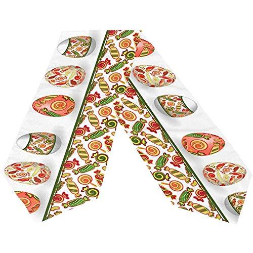 BI HomeDecor Table Runner,Glückliche Ostereier-Süßigkeits-Bunte Drucktisch-Tischsets Für Tabelle Dinning-Dekoration 33 * 229cm