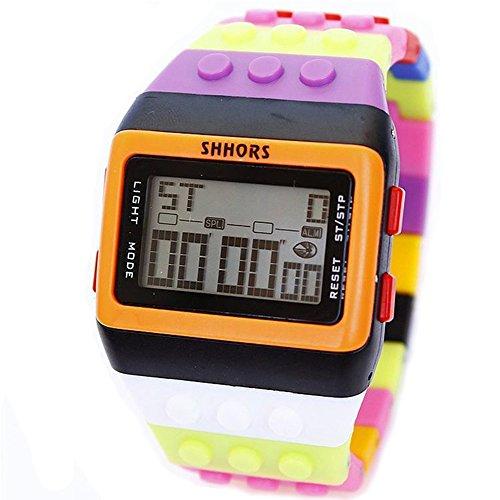 HWCOO WEIDE Orologio da studente scuola media orologio SHHORS arcobaleno multi-funzione orologio elettronico all'ingrosso 30 metri orologio impermeabile ( Color : 2 )