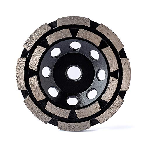 Diamond Grinding Wheel Cup Wheel Diamond Disc Grinder for Concrete and Paint Epoxy Mastic Coating Removal Double 4-1/2 inch 5/8-11 inch bore