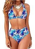 Bikinis Mujer Push Up Sin Tirantes Traje De BañO De Una Pieza Acolchado Mujer Ropa De BañO Talla Grande Bikini De Control De Abdomen (B, S)