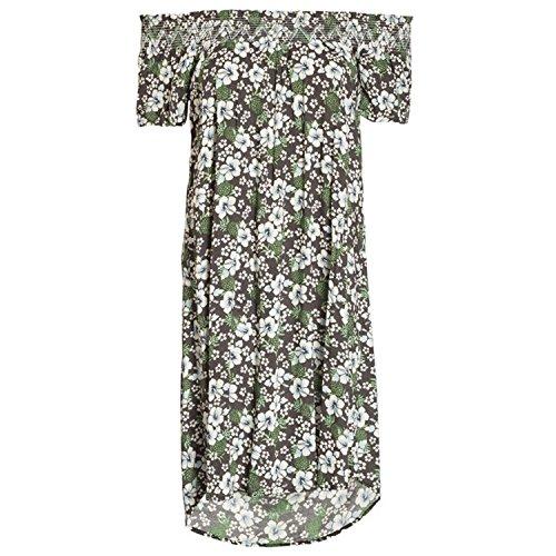 Blutsgeschwister Damen Kleid Waikiki Tuniki Bluse braun/Weiss/grün - XS