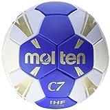 Molten H1C3500 - Balón de Balonmano reglamentario IHF, categoría Infantiles, Azul y blanco, Talla 1