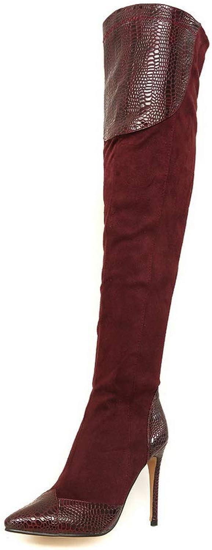 AN DKU02657, Damen Durchgängies Plateau Sandalen mit Keilabsatz, Rot - - - Claret - Größe  37  f044a6