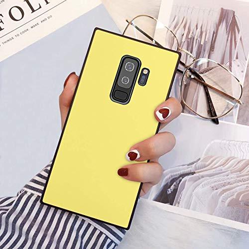 Samsung Galaxy S9 Plus Square Edges Phone Case Soft TPU Slim Case for Samsung Galaxy S9 Plus - Yellow Lemon Color
