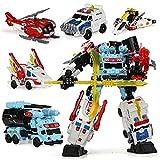 CYLYFFSFC Fünf-in-eins-Modell eines verwandelnden Spielzeugroboters, Kinderspielzeug, Eltern-Kind-Interaktion, Junge und Mädchen, manuelle 2-Formulare, Erwachsenenmodell, schillernder Schutzpatron