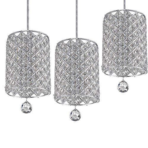 Home Equipment Iron Art Luxury Crystal Hanging Lamp Adjustable Romantic Decoration Chandelier Single Head Home Lighting Warm Ceiling Pendant Lamp European Modern Fashion Pendant Light Restaurant Sm
