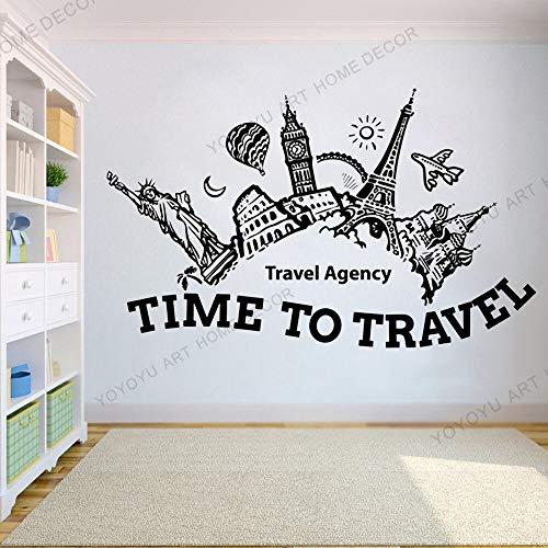 Agenzia di Viaggi Ufficio Vacanze estive Voyage Adesivo murale, Adesivo da Ufficio, Viaggio in Camera da Letto Esplora Lo Sfondo di Avventura di Viaggio