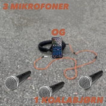 3 mikrofoner og 1 koalabjørn