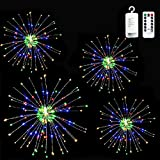 LoveNite Firework Lights 150LED String Lights, 8 Modes Battery Operated String Fairy Lights with Remote Control, Decorative Hanging Lights for Parties, Home, Outdoor Decoration (Multicolor)