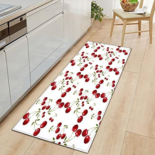 OPLJ Alfombra Linda de la Estera de la Fruta Alfombras Antideslizantes de la Estera de la Puerta de Entrada Alfombras y alfombras al Aire Libre para el hogar Sala de Estar Baño A4 60x180cm
