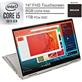 "2020 Lenovo Yoga C740 2-in-1 14"" FHD Touchscreen Laptop Computer, 10th Gen Intel Quad-Core i5-10210U up to 4.2GHz (Beats i7-7500U), 8GB DDR4 RAM, 1TB PCIe SSD, Mica, Windows 10, BROAGE Mouse Pad"