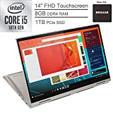2020 Lenovo Yoga C740 2-in-1 14' FHD Touchscreen Laptop Computer, 10th Gen Intel Quad-Core i5-10210U up to 4.2GHz (Beats i7-7500U), 8GB DDR4 RAM, 1TB PCIe SSD, Mica, Windows 10, BROAGE Mouse Pad