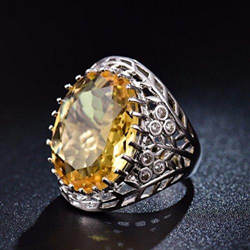 preeyanan Women Yellow Citrine CTR Crystal Wedding Celtic Kont Wrap Rings Promise Jewelry (8)